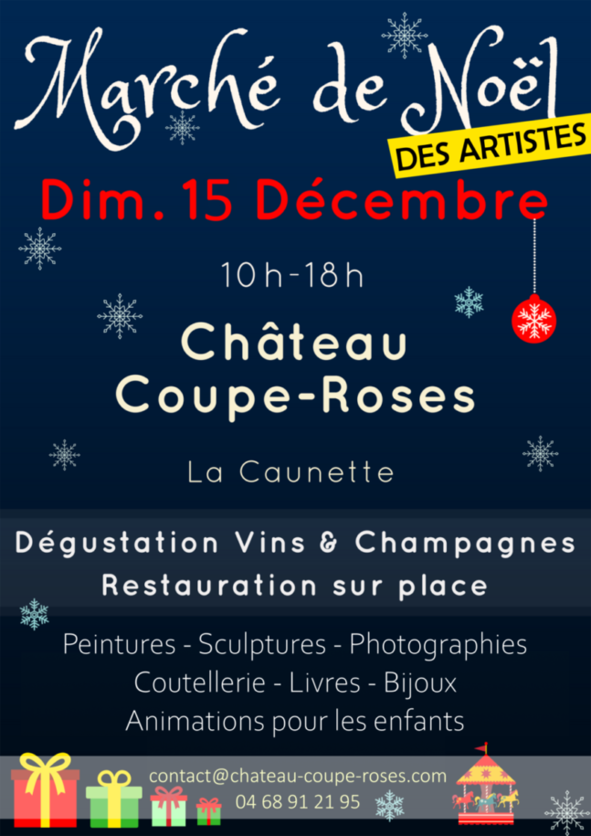 Marche noel coupe roses